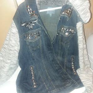 Plus size jean jacket(w/ hood) torrrid